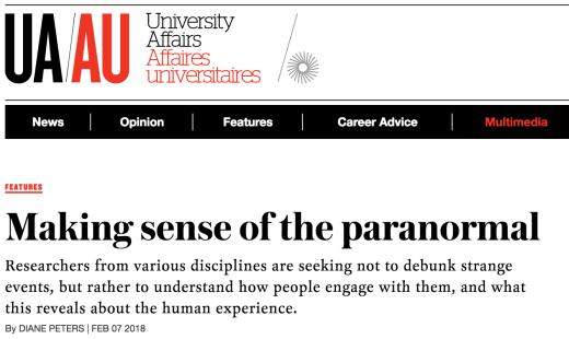 University Affairs