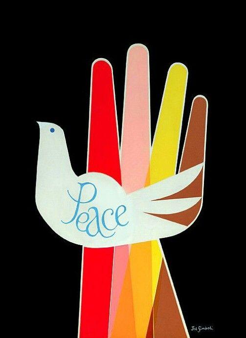 Joe Simboli's peace poster, 1968.
